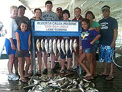 Lake Texoma Striper Fishing Guide Stan Constant will get you on fish!